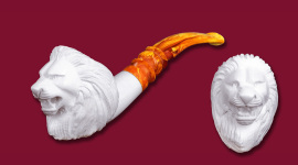 SMS Meerschaum  Carvings Animals Lion