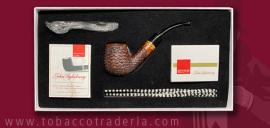 John Aylesbury  The Pipe Smokers  Beginner Set  Bent Billiard Rusticated